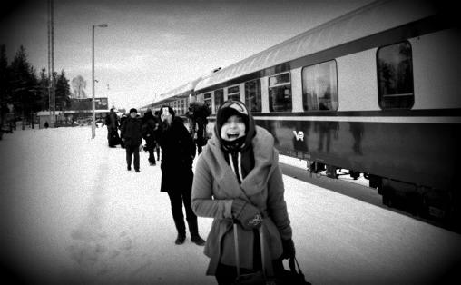 A Moonlit Snowshoe Tour in Levi, Finland