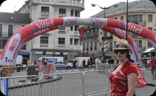 Watching the Tour de France in Lourdes