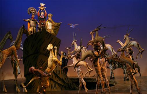 around london  lion king musical