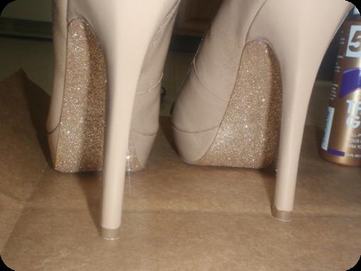 Diy Glitter Sole Shoes Elle Croft
