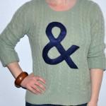 DIY ampersand jumper via ellecroft.com