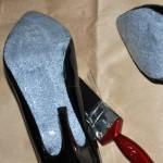DIY glitter sole shoes via ellecroft.com