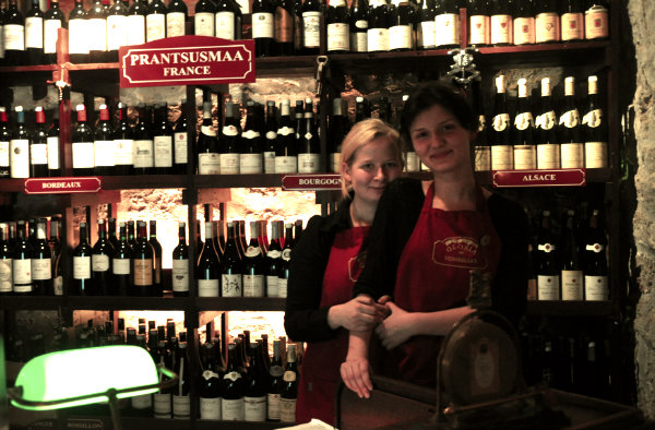 Staff in Gloria Wine Bar in Tallinn, Estonia