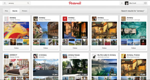Pinterest Search Function