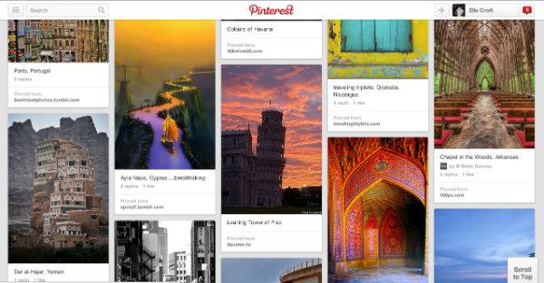 Using Pinterest for Travel