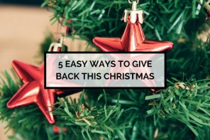 5 Ways to Give Back this Christmas