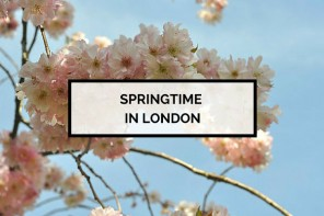 Spring in London & pretty cherry blossoms in Kensington Gardens