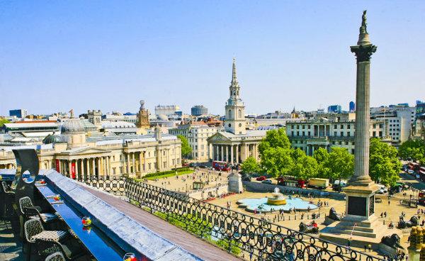 Best Rooftop Bars in London - Vista at the Trafalgar