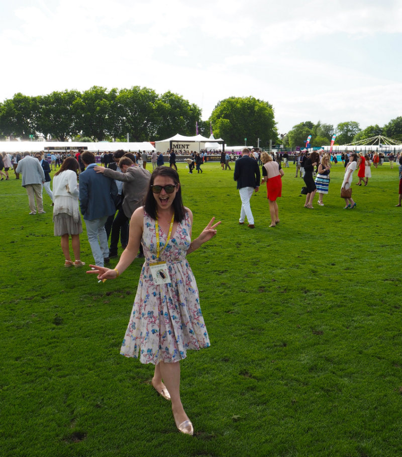 Channelling Pretty Woman at Polo in the Park