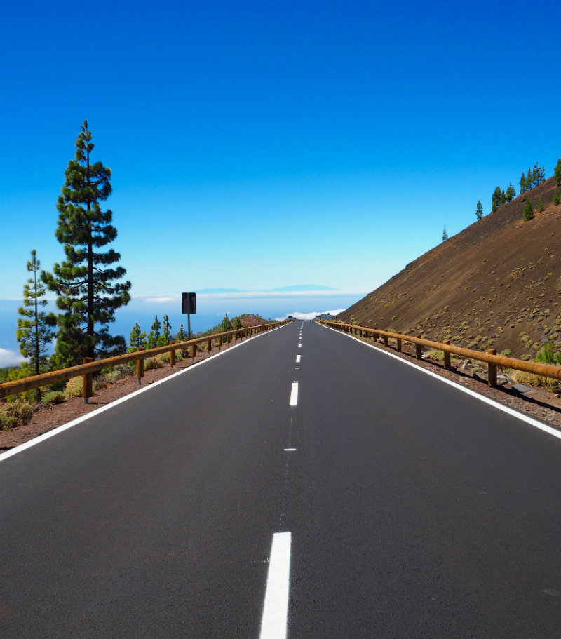 Thoughts I Had in Tenerife - road to the clouds in Teide National Park