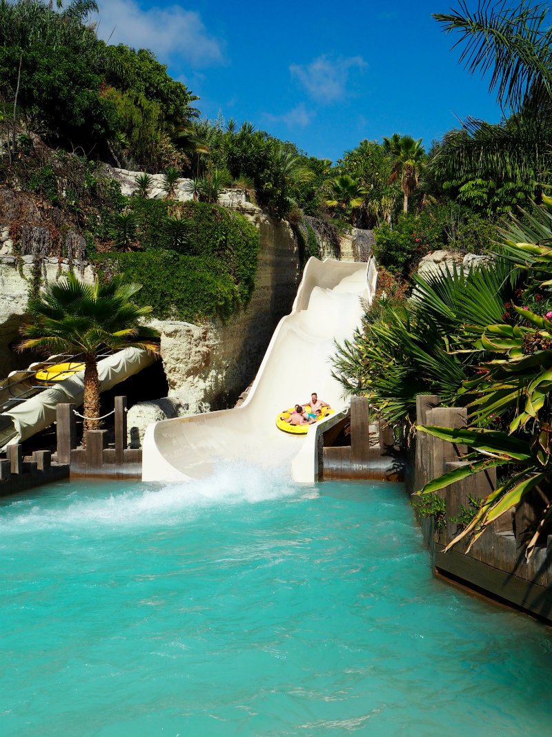 Thoughts I Had in Tenerife - water slide at Siam Park waterpark