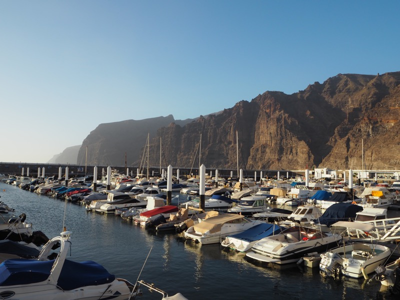 Thoughts I Had in Tenerife - Harbour of Los Gigantos with giant rock formations in the background