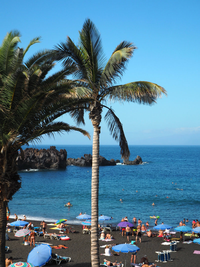 Thoughts I Had in Tenerife - pretty volcanic black sand beach