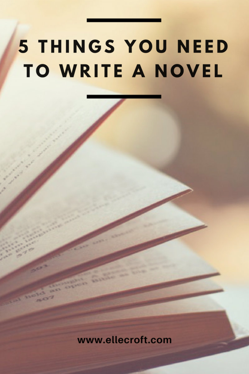 Want to Write a Novel? You Need These 5 Things First! - Elle Croft