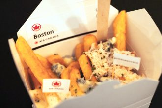 Poutine in London with Air Canada