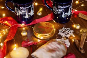 How to Recreate the Festive Spirit of European Christmas Markets at Home - mulled wine and festive lights