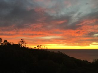 Sunset over the Adelaide coast - A Writer's Diary: A Year in the Life of an Author #3