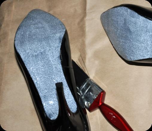 DIY: glitter-sole shoes - Elle Croft